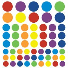 Colourful Spots And Dots Wall Stickers £22. 58 spots and dots in total. Set consists of 16 spots at 9cm high, 21 spots at 7cm high and 27 spots at 5cm high. Free delivery worldwide on all orders over £50!