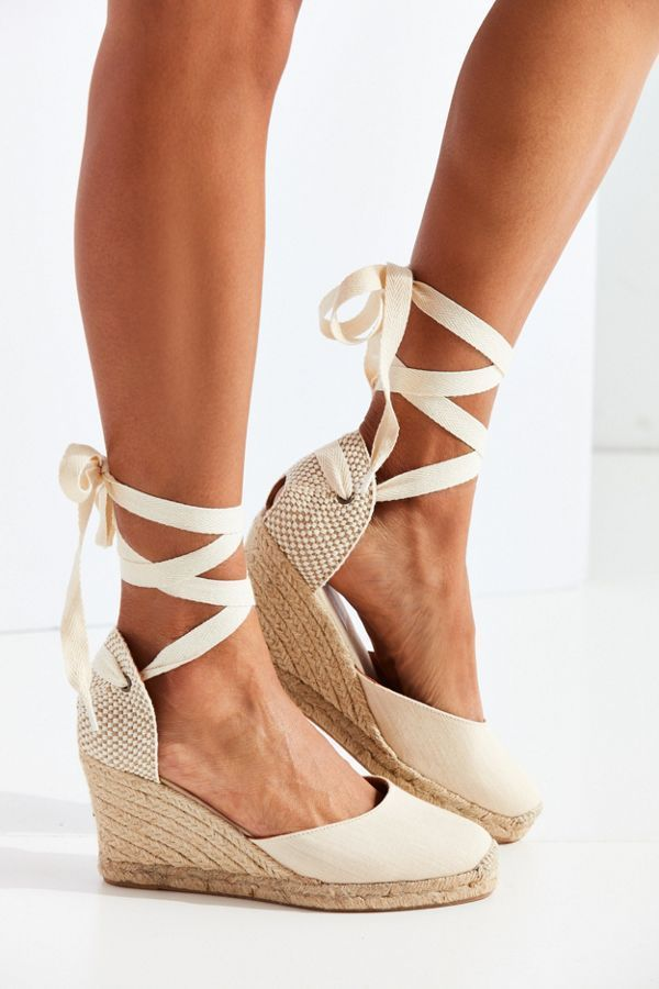 Soludos Linen Espadrille Tall Wedge