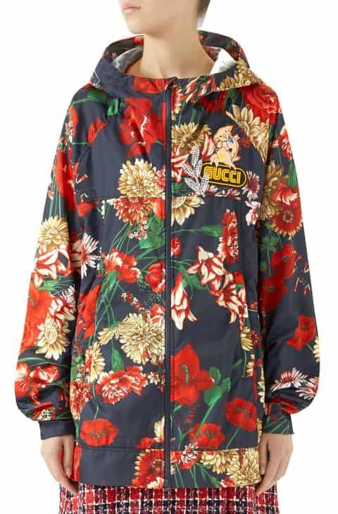 ea4044f95 Gucci Spring Bouquet Print Windbreaker 2019 in 2019 | Women Clothing ...