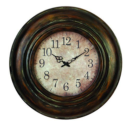 benzara metal wall clock long lasting utility product benzara