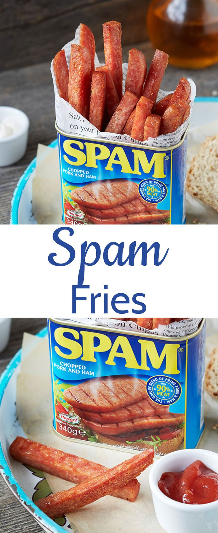 SPAM fries - an easy one ingredient breakfast