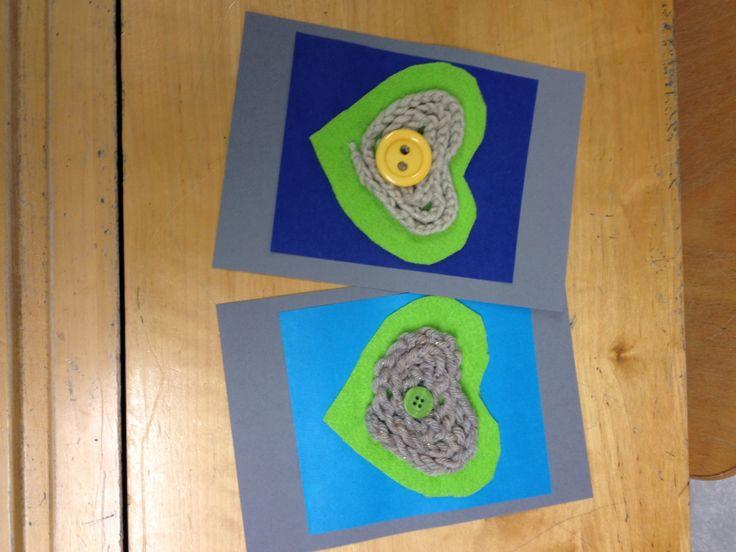 Isänpäiväkortti 2.lk, sormivirkkaus