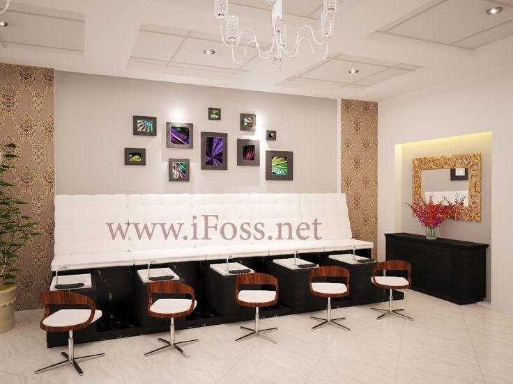 Pedicure Area Nail Spa U0026 Salon Design IFOSS Inc. Design And Remodel Nail  Salon/beauty/spa. #ifoss #salondesign #nailspa #remodelnailsalon  #commercialoffice ...