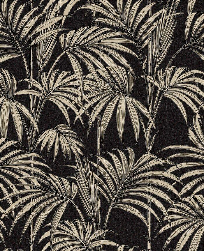 Honolulu Black / Gold | Graham and Brown
