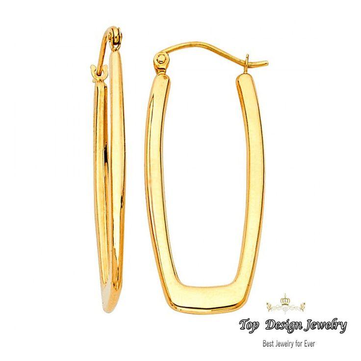 9 best 14K Gold Endless Hoop Earrings images on Pinterest