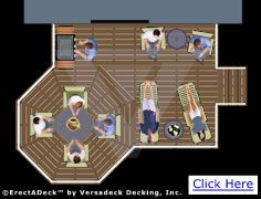 Octagon deck ideas love but reversed with the octagon for Octagon deck plans free