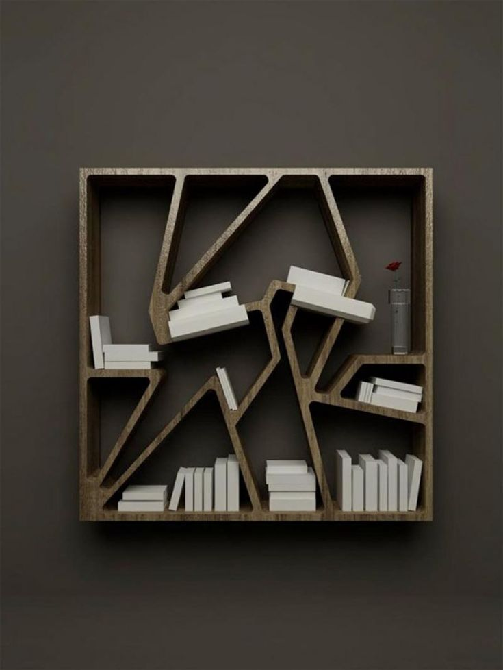 Modern Minimalist Bookshelves For Space Saving