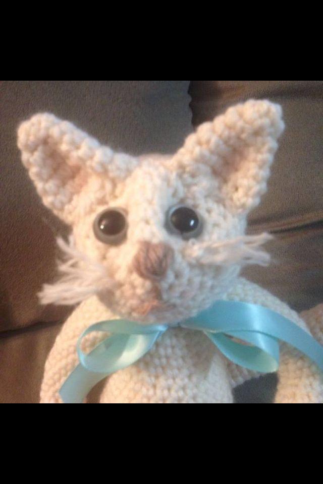 Cute adorable crocheted kitty