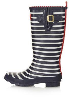 Striped wellies. Nice