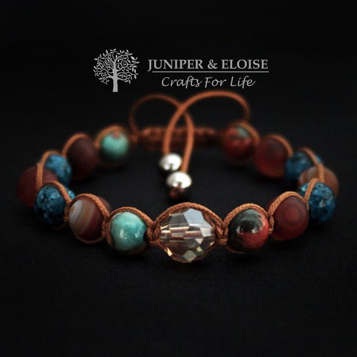 Womens Shambala Bracelet , Gift For Her, Gemstone Bracelet Gift, Trendy Gift,  Shambala Bracelet For Women with Adjustable Sliding Knot by JUNIPERANDELOISE on Etsy