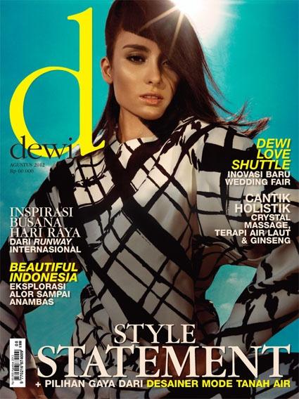 Augustus 2012,    Model: Salvita Decorte,  Photographer: Arseto Adiputra,  Stylist: Karin Wijaya,  Hair do: Deddy,  Make Up: Adeline  Wardrobe: Celine