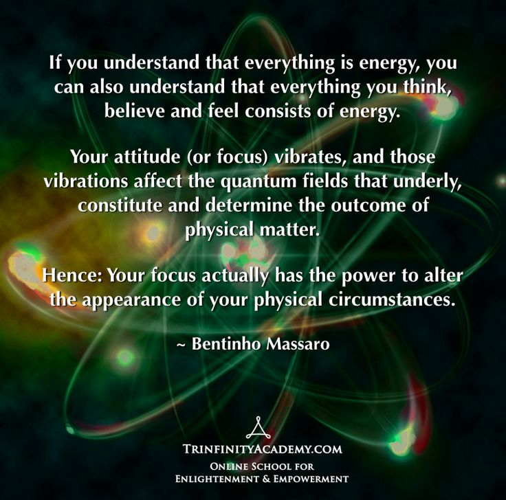 Thoughts & Quantum Physics - ur focus actually has the power to alter ...