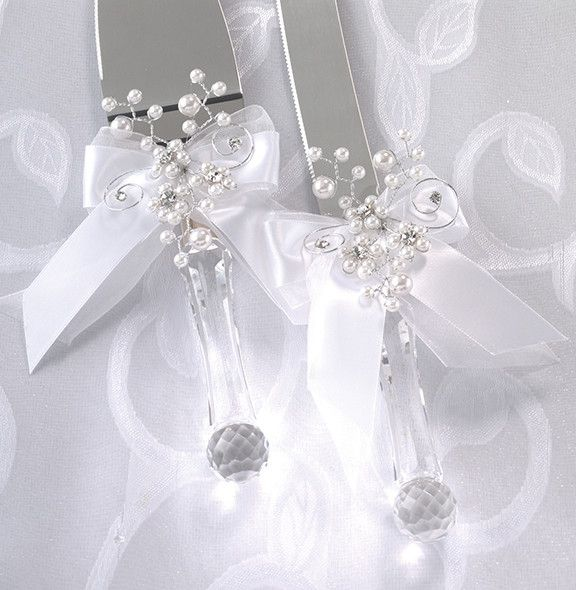 Decorating Wedding Servers Pin Cake Knife And Server Set Removable Flower Decoration