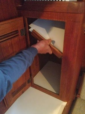 Small Boat Projects - Making Life Aboard Easier: Locker Storage Upgrade