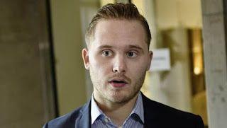 CRIME - SWEDEN: Sverigedemokraternas press-chef Henrik Vinge utsat...