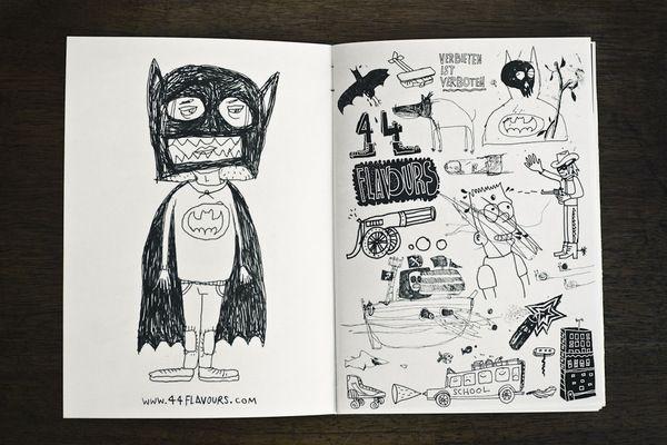 Lausbuben Zine - 22 illustrated makers of mischief by ZWUPP! , via Behance