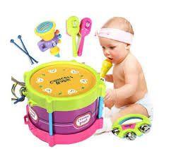Kids Musical Drum Instruments Set Develop Kids Audition Sense,Tigerfn