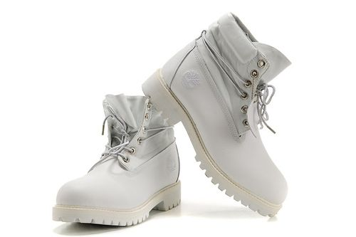Timberland Women's Roll-Top Boots-White Give You Inject Vigor,timberland boots for sale 5-7 Day Delivered To Your Door