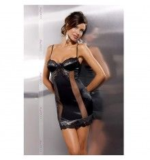 sanaa dress black club leather by passion