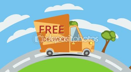 Free delivery van on road. — Stock Video © newb1 #62901199