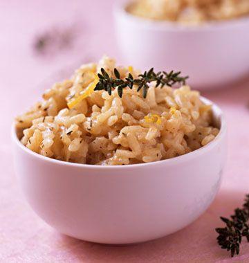 Photo de la recette : Risotto au citron et au thym