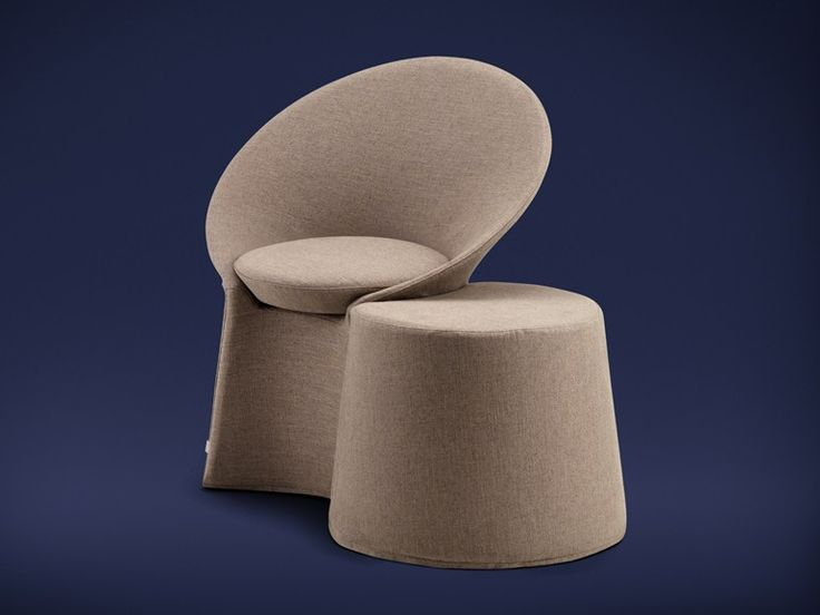 Upholstered fabric armchair with removable cover Remy Series by Flou | design Riccardo Giovanetti