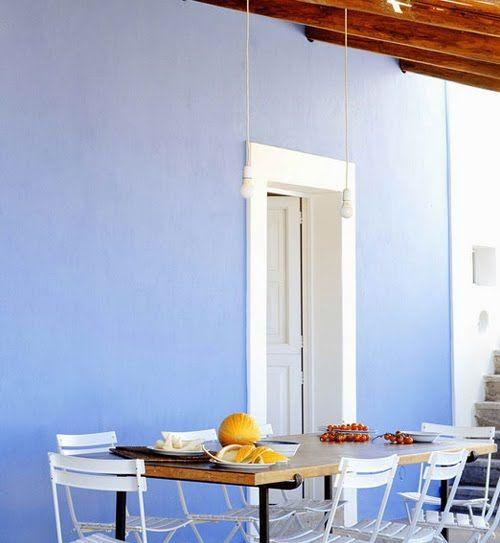 pretty blue wall