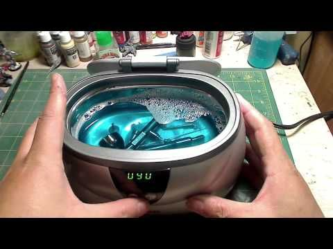 Ultrasonic Cleaner to Clean your Airbrush - YouTube