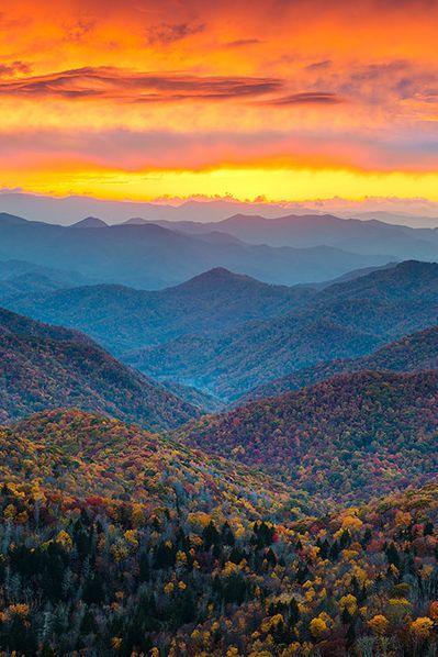 mstrkrftz: Blue Ridge Parkway Fall Sunset by Dave Allen