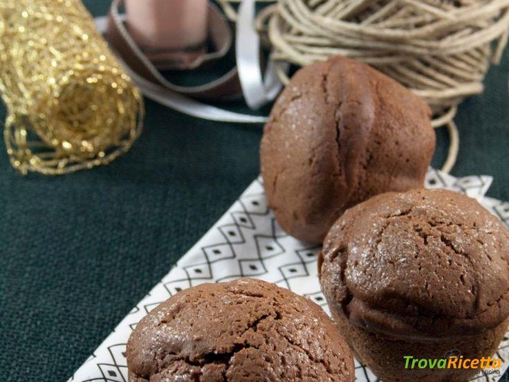 Muffin al cioccolato fondente e zenzero #ricette #food #recipes