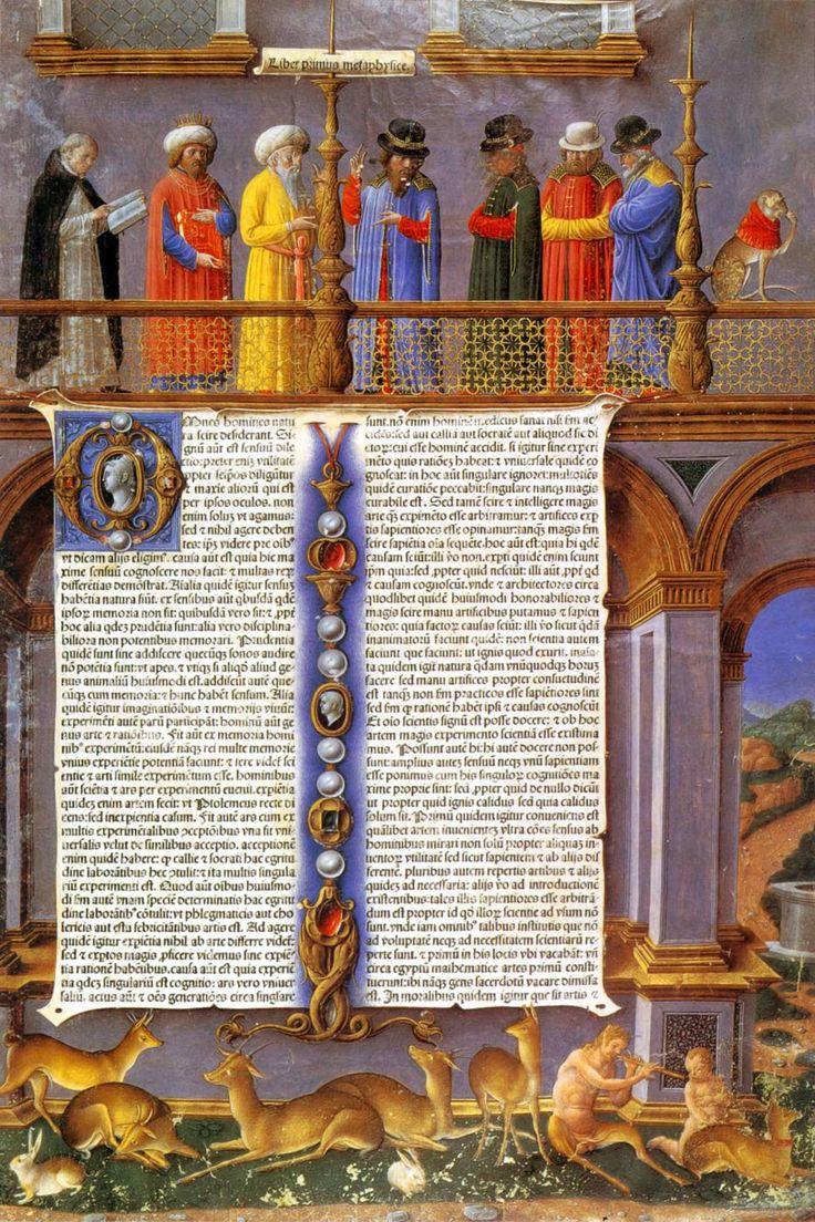 GIROLAMO DA CREMONA. Aristotle: Works. Manuscrito. 1483