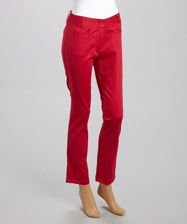 Look what I found on #zulily! Rose Red Skinny Pants - Women #zulilyfinds