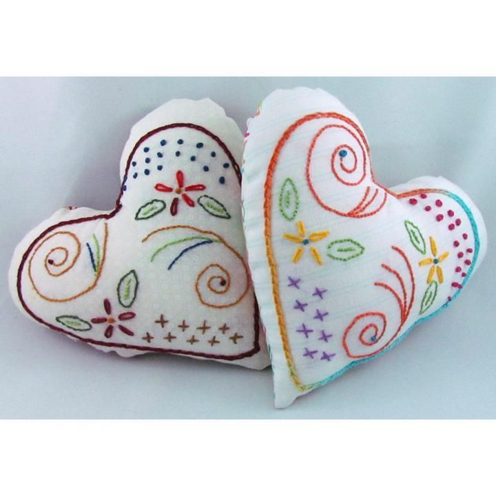 free pattern from Craftsy...these are adorable!Free Sewing, Embroidery Patterns, Free Pattern, Hands Embroidery, Sewing Pattern, Embroidery Design, Embroidery Heart, Flourish Heart, Embroidered Heart