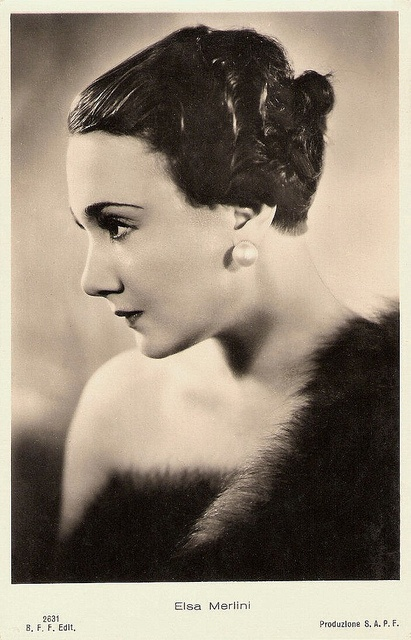 """""""Elsa Merlini was a star of the Italian sound cinema of the 1930s. She excelled in the so-called telefoni bianchi comedies."""""""