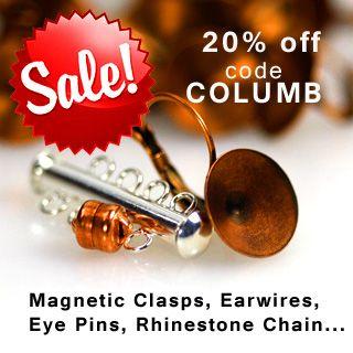 Earrings, magnetic clasps sale