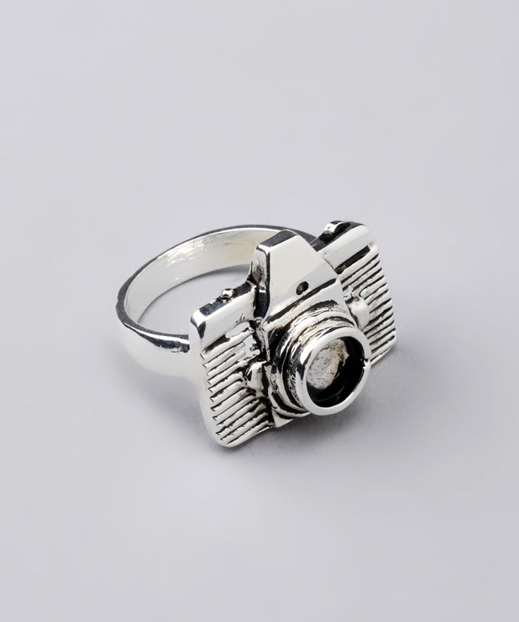 Little Shutter Bug Silver Camera Ring - ZAD. I want this!!