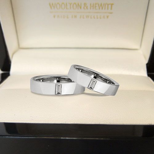 Stunning Single Diamond Engagement Ring from Woolton & Hewitt. The design is very similar to the engagement rings worn by Tom Daley and Dustin Lance Black