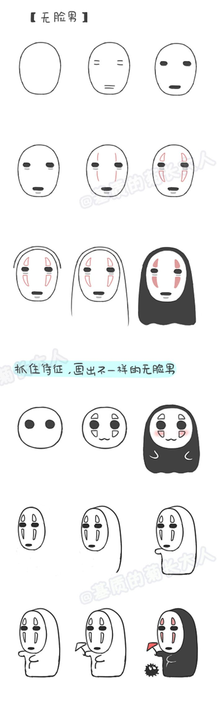 How to draw faceless Male, chrysanthemum people grow up from a matrix @