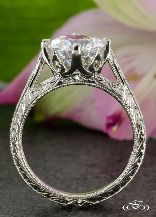 designer clothes online store Cala Lily Engagement Ring  GreenLakeJewelry