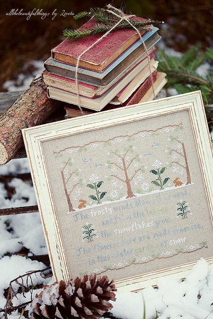 Garden of Snow (Country Cottage Needleworks) by loretoidas, via Flickr