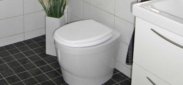 En helt luktfri, klok toalett utan vattenspolning,