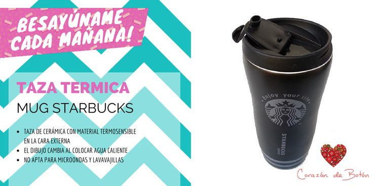 Taza Termica Mug Starbucks Disponible en http://www.corazondeboton.com.ar/