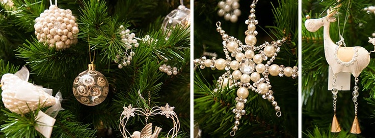 Our Champagne Pearl Range of High-end Tree Decorations, Christmas 2012