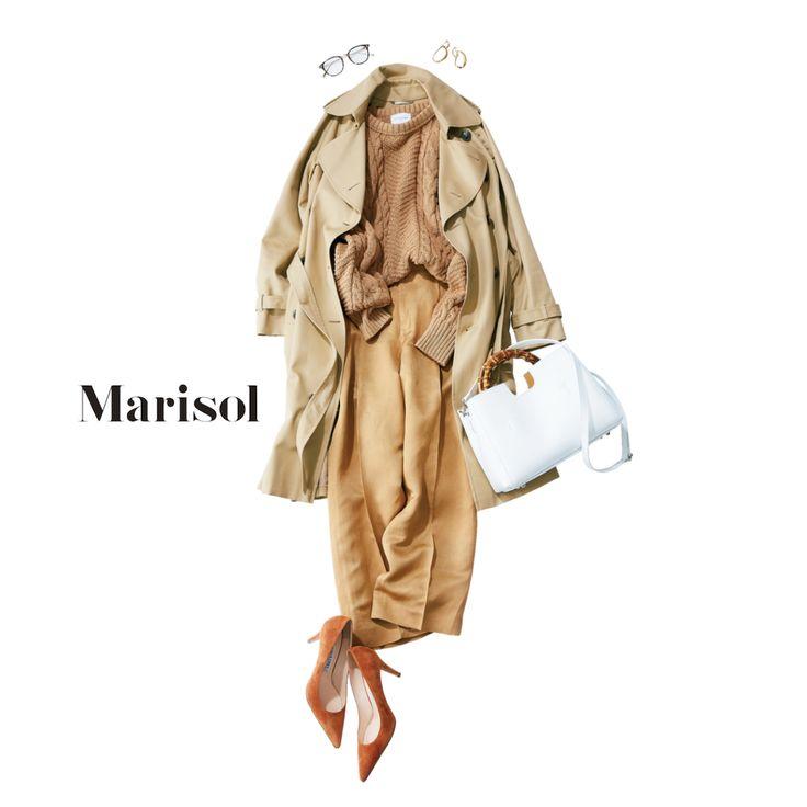 オールベージュの大人トラッドならアラフォー女子がこなれて見える【2018/2/6コーデ】Marisol ONLINE|女っぷり上々!40代をもっとキレイに。