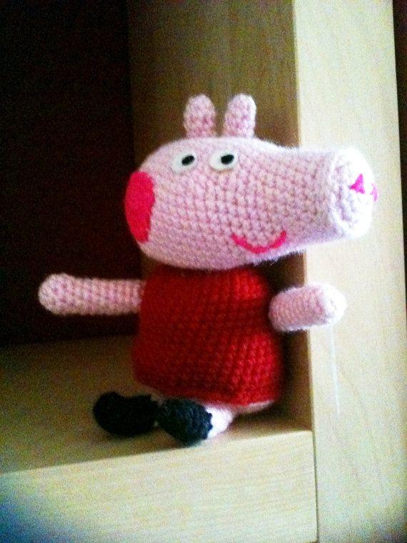 Amigurumi Tutorial Peppa Pig : Amigurumi peppa pig crochet pattern by profairy on etsy �