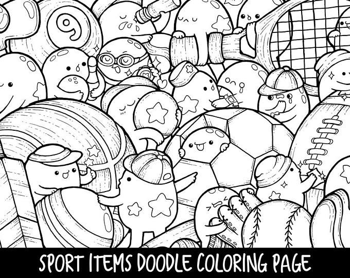 Robots Doodle Coloring Page Printable Cute Kawaii Coloring Doodle Coloring Coloring Books Coloring Pages