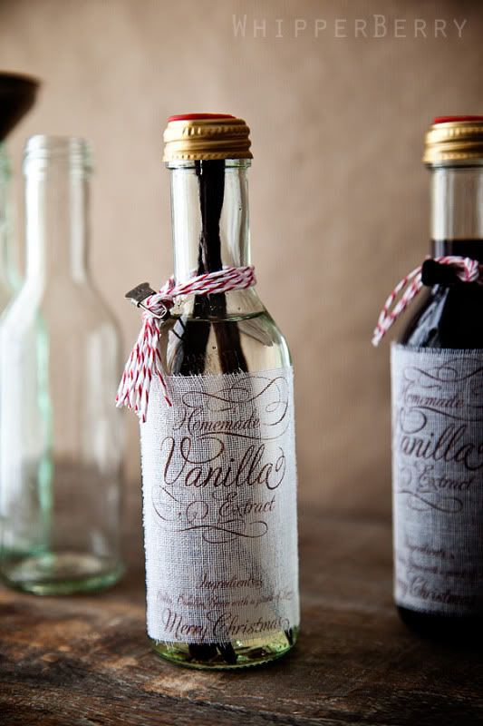 Homemade Vanilla Extract  Another good DIY gift