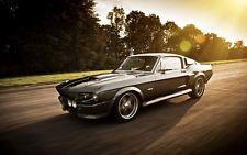"004 1967 Mustang Eleanor - GT500 Super Race Car 38""x24"" Poster"