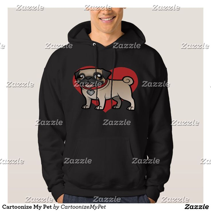 Cartoonize My Pet Hoodie. Regalos Padres, fathers gifts . T-Shirt. Producto disponible en tienda Zazzle. Vestuario, moda. Product available in Zazzle store. Fashion wardrobe. Regalos, Gifts. Trendy tshirt. #camiseta #tshir #DiaDelPadre #FathersDay