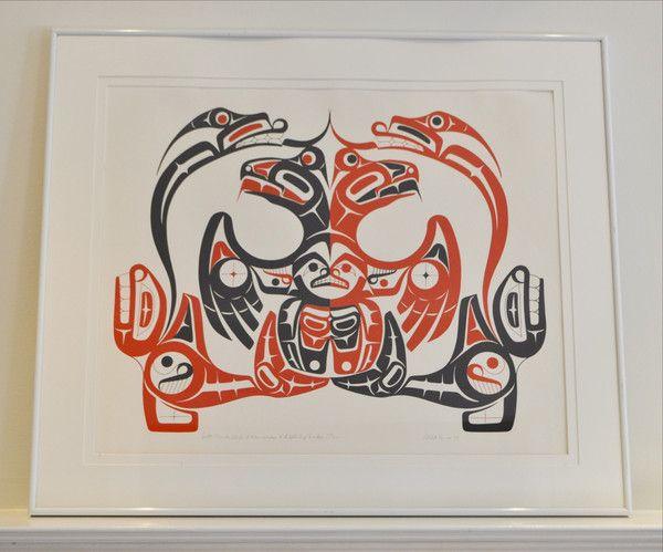Thunderbird, killer whales and lightening snakes inuit print